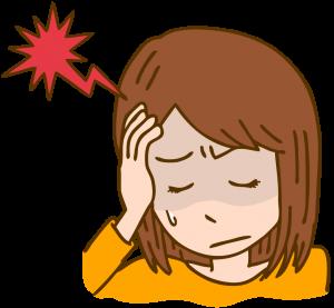 頭が痛い女性のイラスト